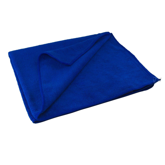 Mikrofaser - Frotte blau high quality  extra groß extra stark 350g/m2, 60x50 cm