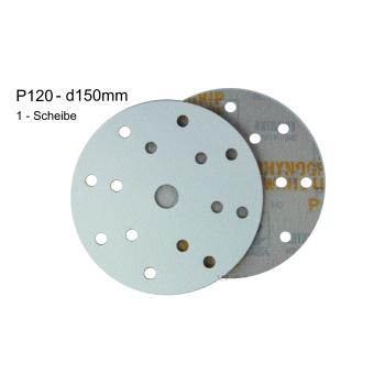 1 x Indasa WhiteLine d150 p120 grinding wheel Rhynogrip...