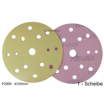 Kovax Yellow Film d150 p2000 Foil Disc Dry Grinding 15-Hole