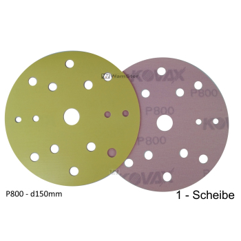 Kovax Yellow Film d150 p800 Foil Disc Dry Grinding 15-Hole