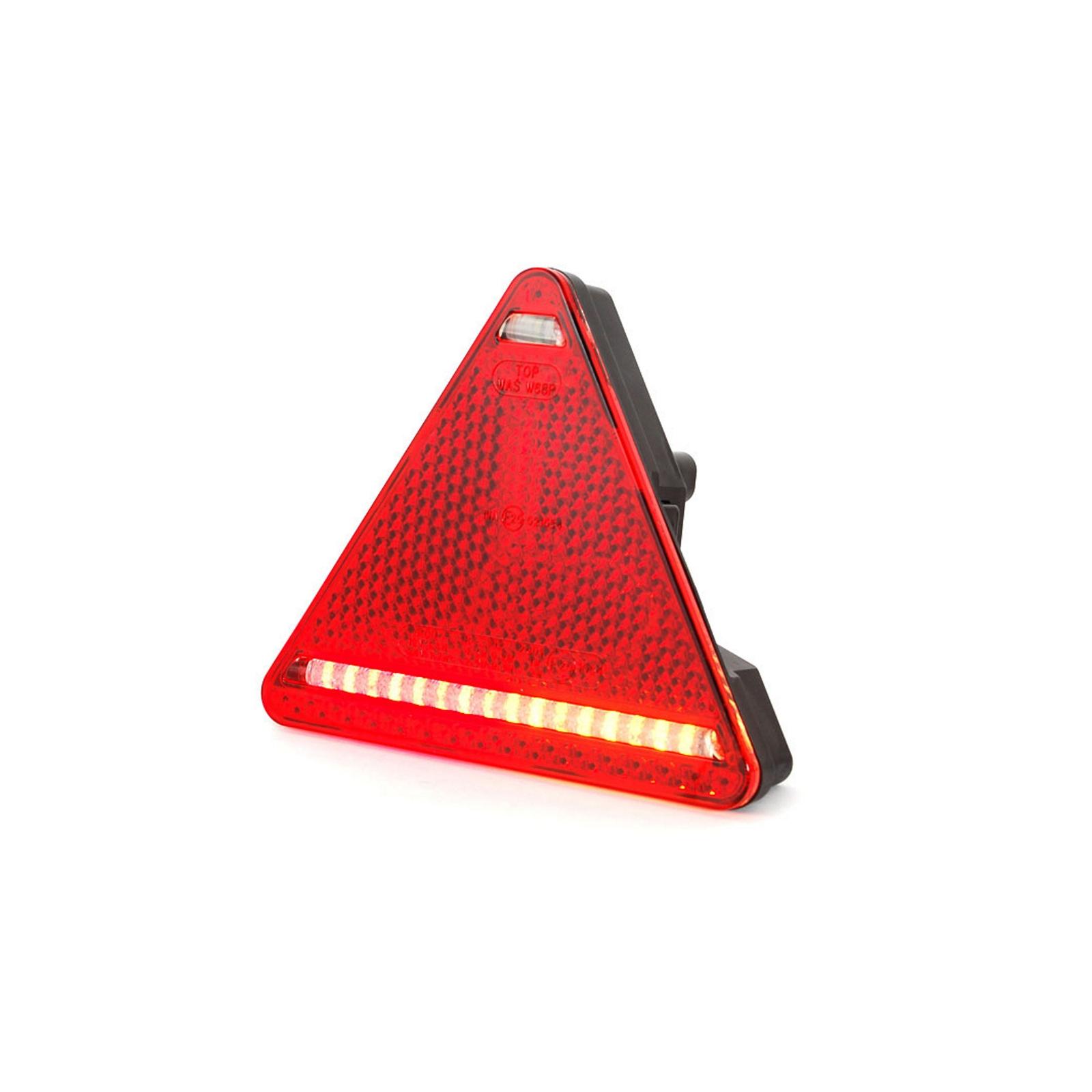 LED Rückleuchte 5 Funktionen LKW Anhänger RECHTS Dreieck 163mm x 144mm