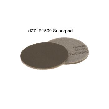 "Superpad sanding pad d77mm / 3"" - p1500 -..."
