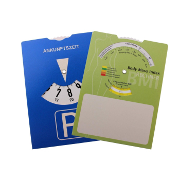 Europe parking disc parking meter with Body Mass Index...