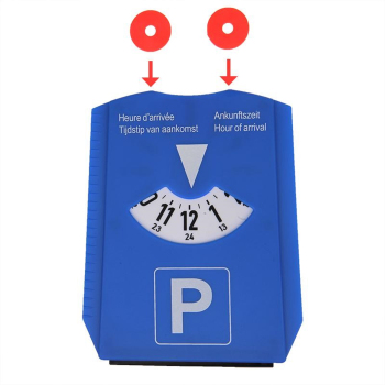 Europa parking disc parking meter with ice scraper and...