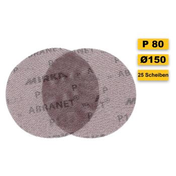 25 x Abranet d150 mm - p80 Abrasive net grinding wheel