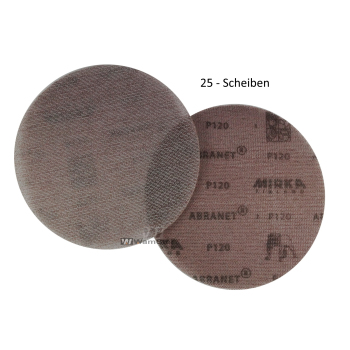 25 x Abranet d150 mm - p120 Abrasive net grinding wheel